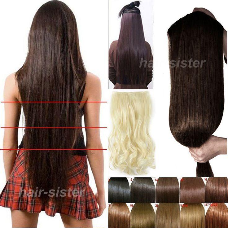 Мага длинные волосы 30 дюйм(ов) 76 см клип в на наращивание волос 3/4 полный голову прямо плетения волос 5 зажим(ов) до талии