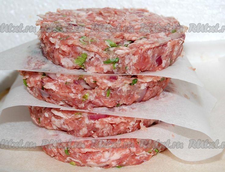 Котлета для гамбургера из свинины