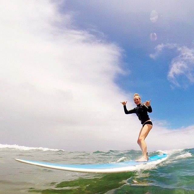 Candice Accola catching a wave! Even Vampires like to surf! #TVD #Suferchicksrock