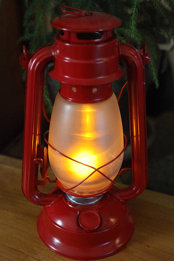 This Red Nostalgic Table Lamp Is A Battery Operated Hurricane Lantern Perfect As A Night Light Decorative L Battery Operated Lanterns Lantern Table Lamp Lamp