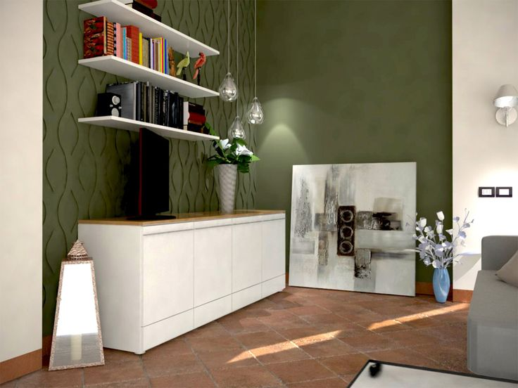 Un #pavimento in cotto, può trovare la giusta collocazione anche in un ambiente più moderno. Importante è creare un corretto abbinamento cromatico tra la superficie piastrellata ed alcune delle pareti della #casa.