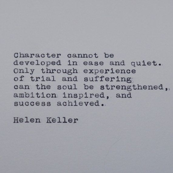 Helen Keller Quote Typed on Typewriter by #LettersWithImpact
