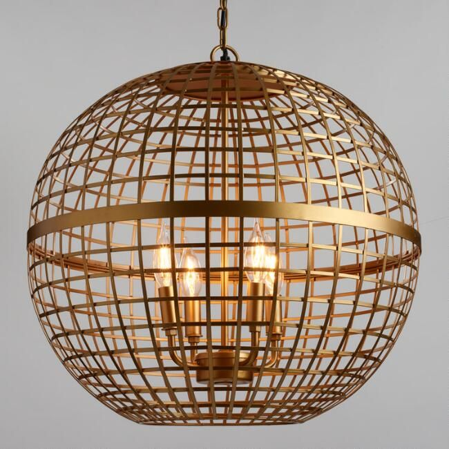 Gold orb 4 light stella chandelier v1