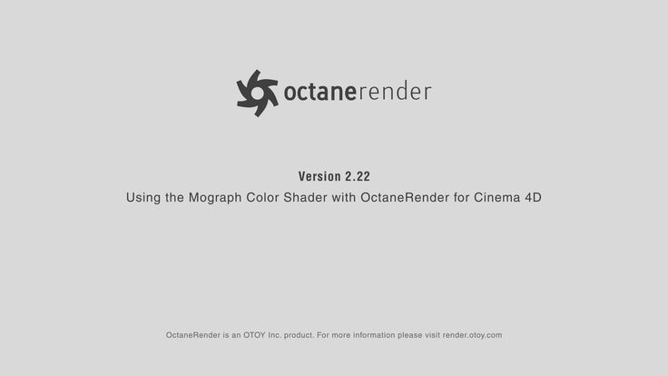 Using the Mograph Color Shader with Octane Render for Cinema 4D on Vimeo