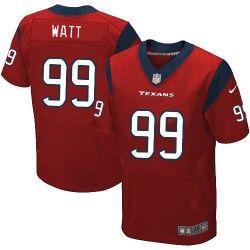 Mens Nike Houston Texans http://#99 J.J. Watt Elite Alternate Red Jersey$129.99