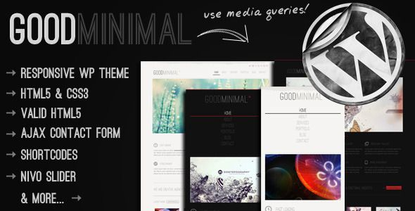 Good Minimal - A Responsive WordPress Theme - ThemeForest Item for Sale