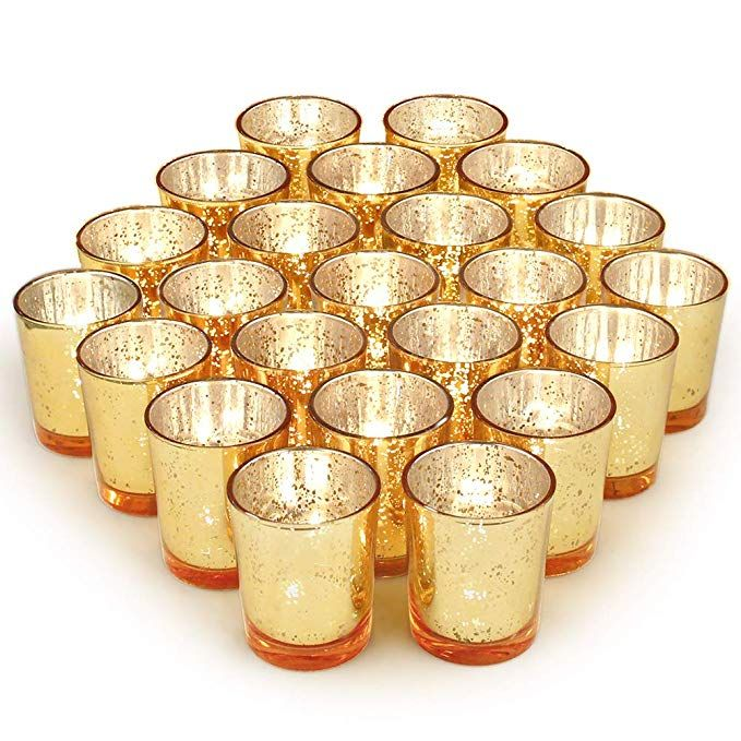 Volens Gold Votive Candle Holders Bulk Mercury Glass Tealight Candle Holder Set Of 72 For Wedding Decor And Home Decor Review Gold Votive Candles Gold Votive Candle Holders Candle Holders