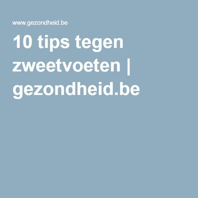 10 tips tegen zweetvoeten | gezondheid.be