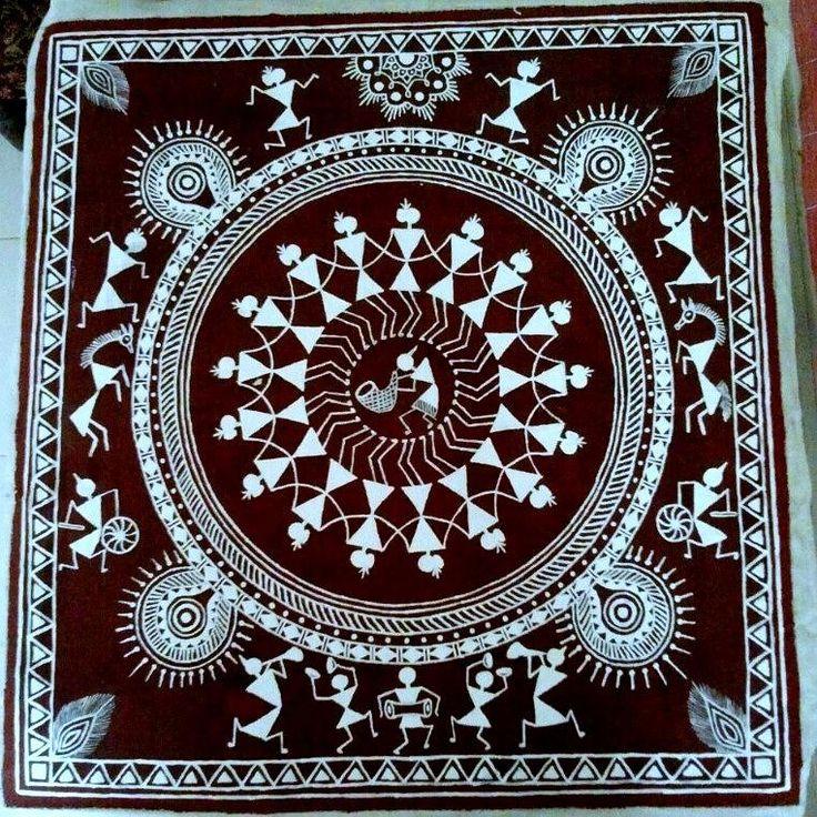 warli-painting-akshay-kirdat.jpg (762×762)