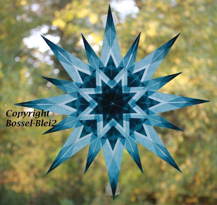 Transparentstern, Fensterstern, Drachenstern, Waldorf, Fensterdekoration, 23cm | eBay