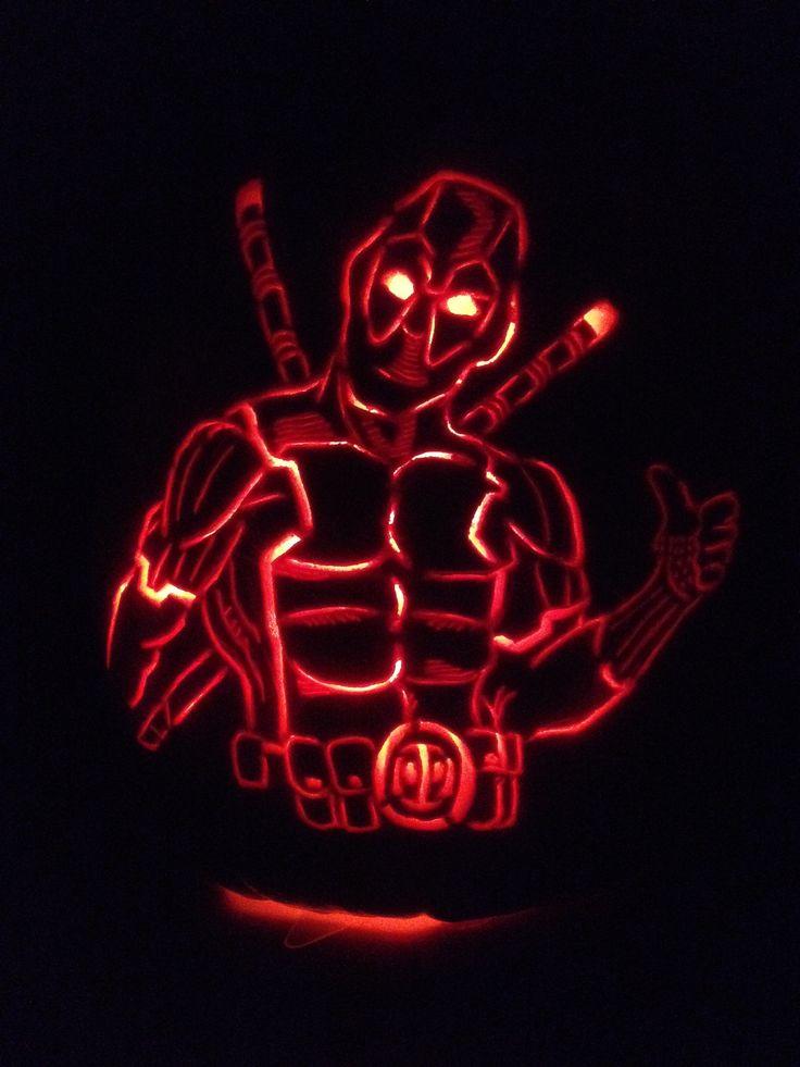 Deadpool pumpkin carving halloween pinterest