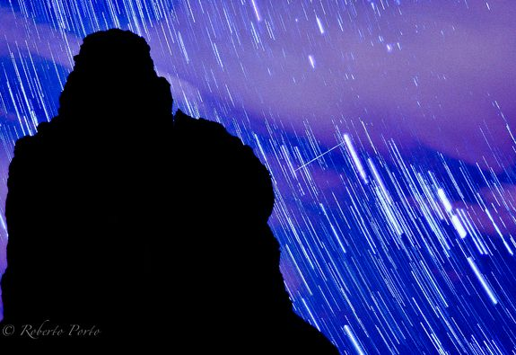 2012 Quadrantid Meteors by Roberto PortoCredit: Roberto PortoThis long-exposure photo by Roberto Porto shows the bright arcs of star trails and a bright Quadrantid meteor in the predawn sky over Tenerife in Spain's Canary Islands.