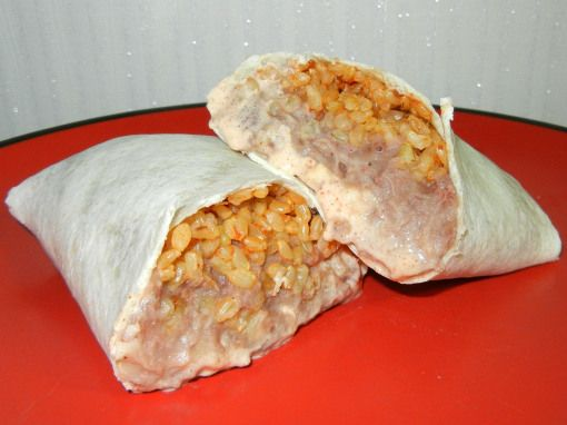 copy cat taco bell cheesy bean and rice burrito and they are AMAZING!!!!!  <3 <3