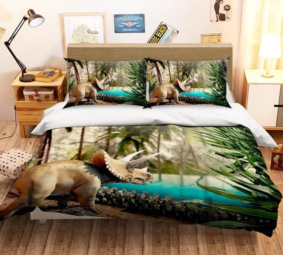 3d Dinosaur D171 Duvet Cover Bedding Set Quilt Cover Quilt Duvet Cover Pillowcases Bedding Queen K In 2021 Bedding Set Duvet Covers Bedding Sets