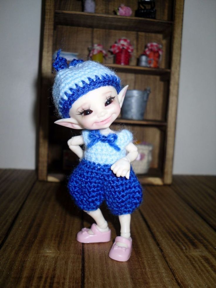 Crochet romper and hat for Realpuki doll BJD #Unbranded