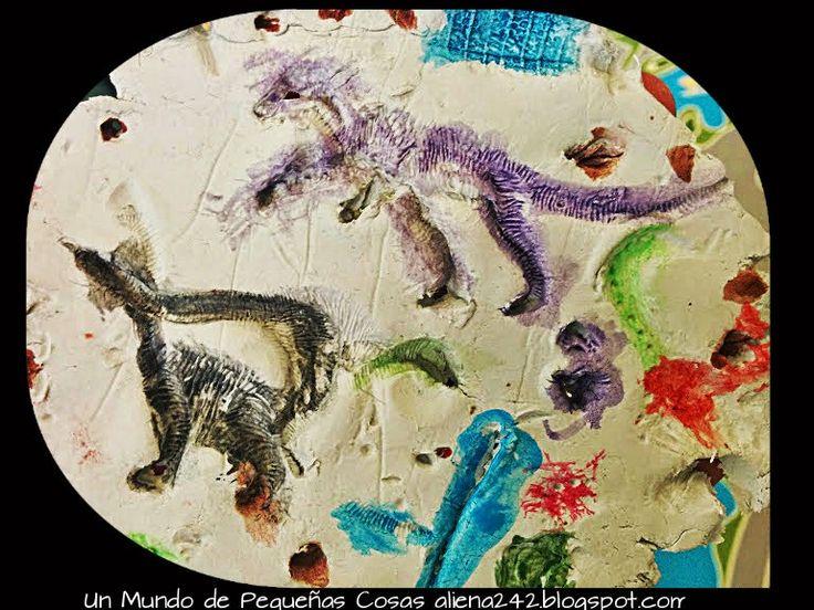 ".::Un mundo de pequeñas cosas::.: 712.- Fósiles de dinosaurios ""caseros"""