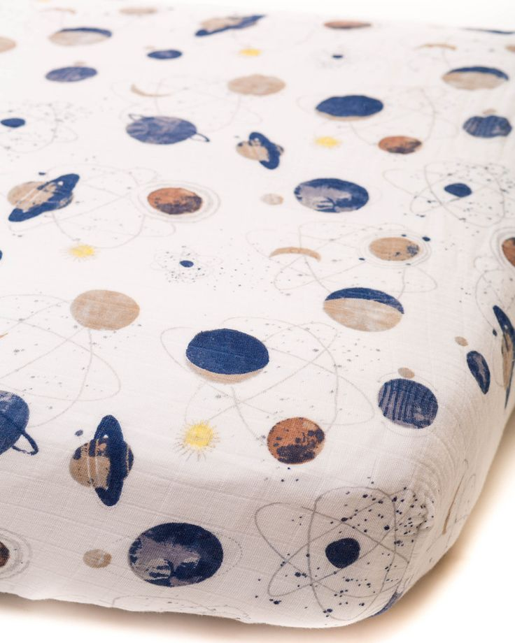 """A lullaby to sleep on. 100% cotton muslin fitted crib sheet standard size: 52"""" x 28"""" x 9"""" lightweight and breathable softer with each wash machine washable original prints to fit your unique style"""