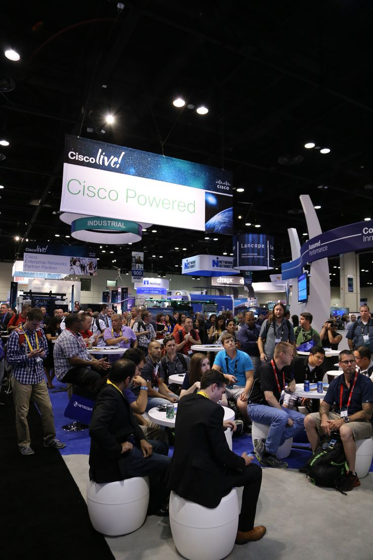 Cisco Live Attendees in the booth