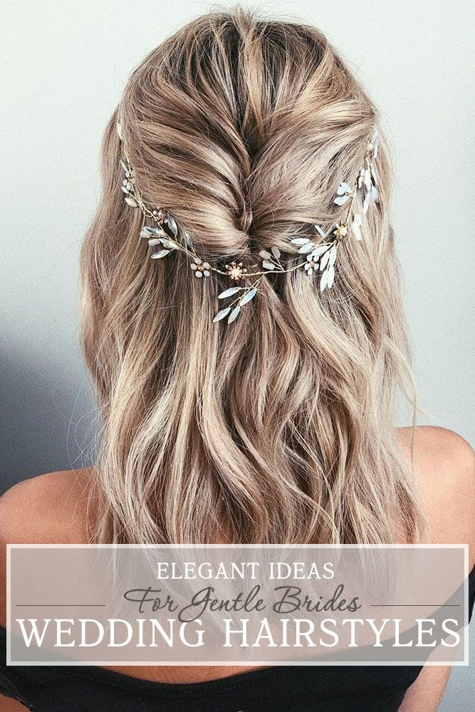 30 Elegant Wedding Hairstyles For Gentle Brides ❤ Elegant wedding hairstyles are always in trend. You can do them from any hair lenght and color. We gathered the best ideas from all over the world! #wedding #hairstyles #bride #elegantweddinghairstyles