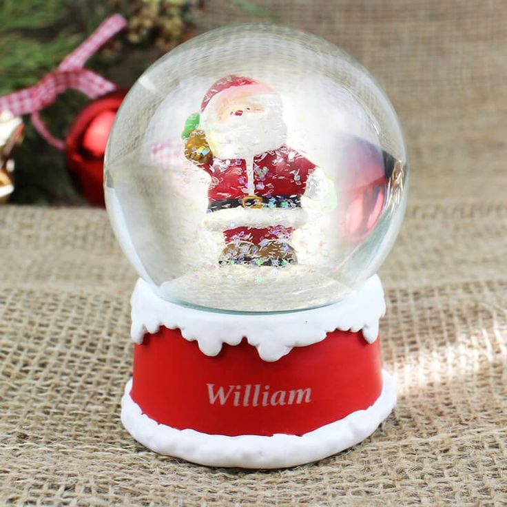 Pretty personalised snow globe!