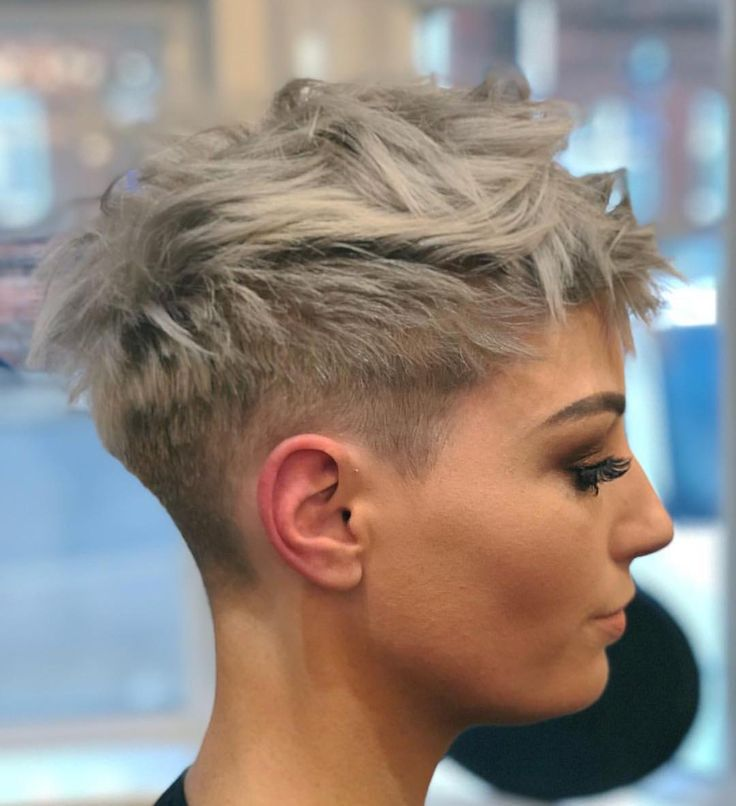 Hair by @luigi_monte on @jessallan23 ##shorthairlove #shorthair #pixiecut #undercut #buzzcut #hair #haircut #hairstyle