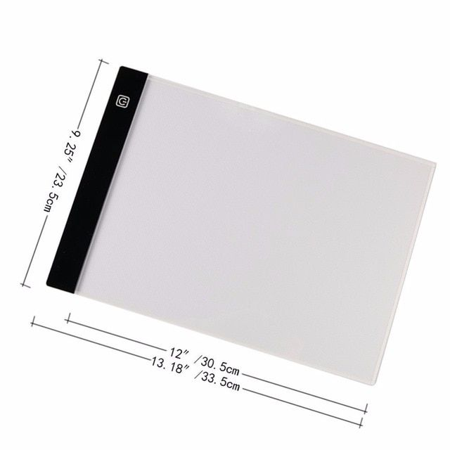 A4 Digital Graphic Sketch Drawing Tablet LED Drawing Board Copy Pad Portable New