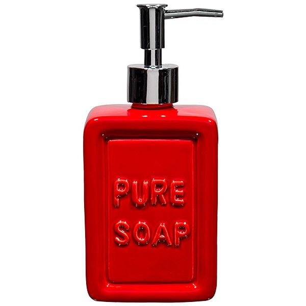 home essentials and beyond red ceramic pure soap dispenser 10 aud