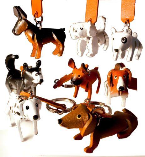 Schluesselanhaenger Hund aus Leder