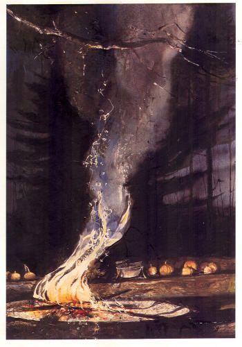 Andrew Wyeth, Bonfire on ArtStack #andrew-wyeth #art