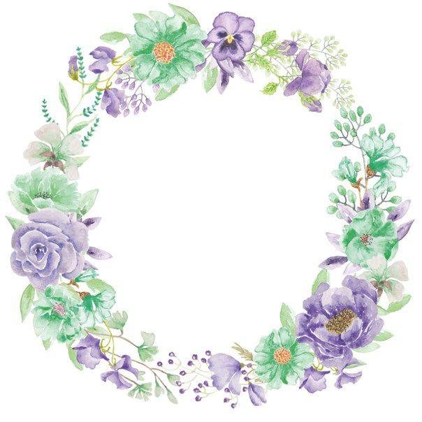 اطارات Flower Printable Flower Frame Quilling Flowers
