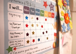 A blog post all about using Positive Reinforcement-Reward Charts to Encourage Good Behaviour. Printable reward charts for girls and boys fro Kindy Garden.