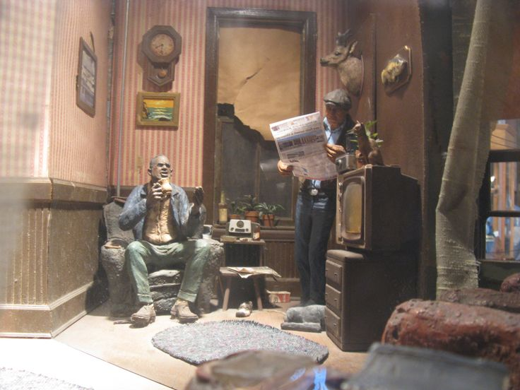 Visit Eddie's apartment - fully preserved in miniature in Michael Garman's Magic Town.