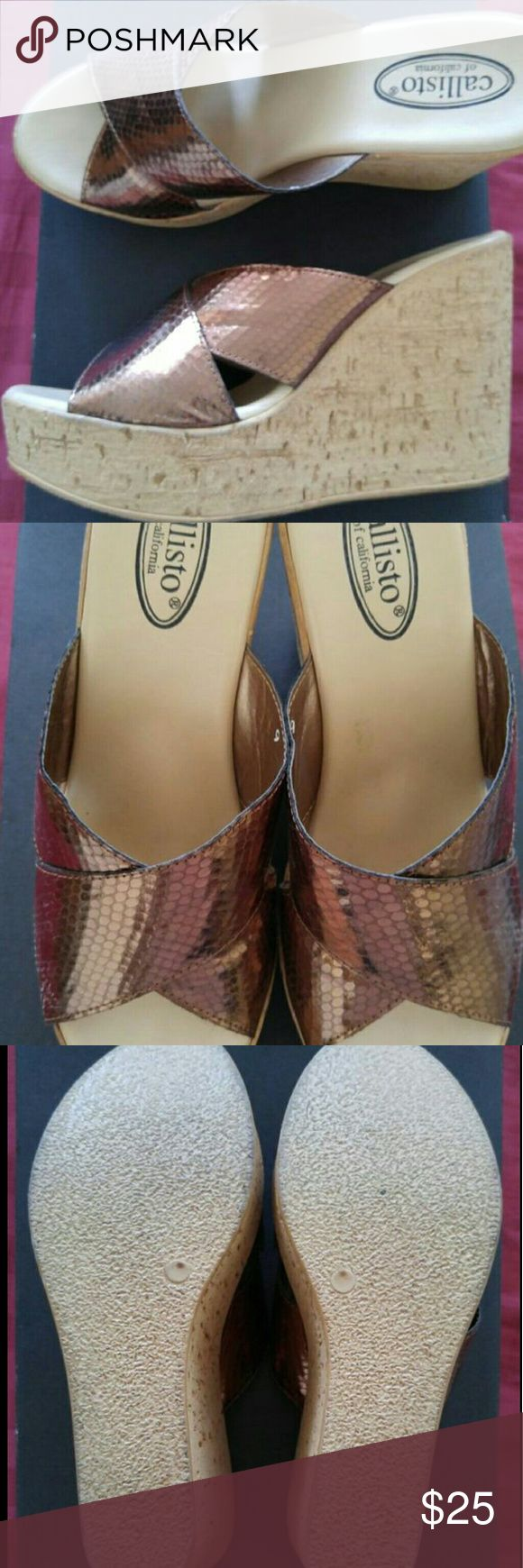Callisto Wedges, worn once Super cute with jeans, with original box Callisto Shoes Wedges