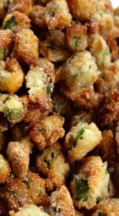 Southern Fried Okra | Einfaches Huhn … mache ich oft. 3-6-2015 Michele