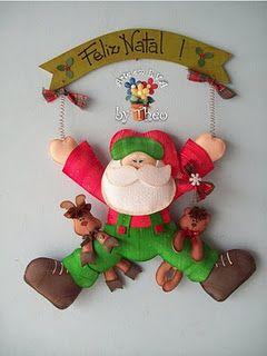 Kerstman hanger  Kijk voor vilt eens op http://www.bijviltenzo.nl