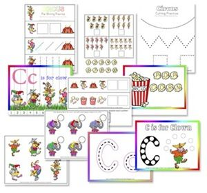 Free Circus Tot Pack and Activities by Erica from Confessions of a Homeschooler at Totally Tots