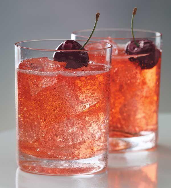 Cherry Moon. Grey Goose Cherry Noir vodka, lemon-lime soda, grenadine.