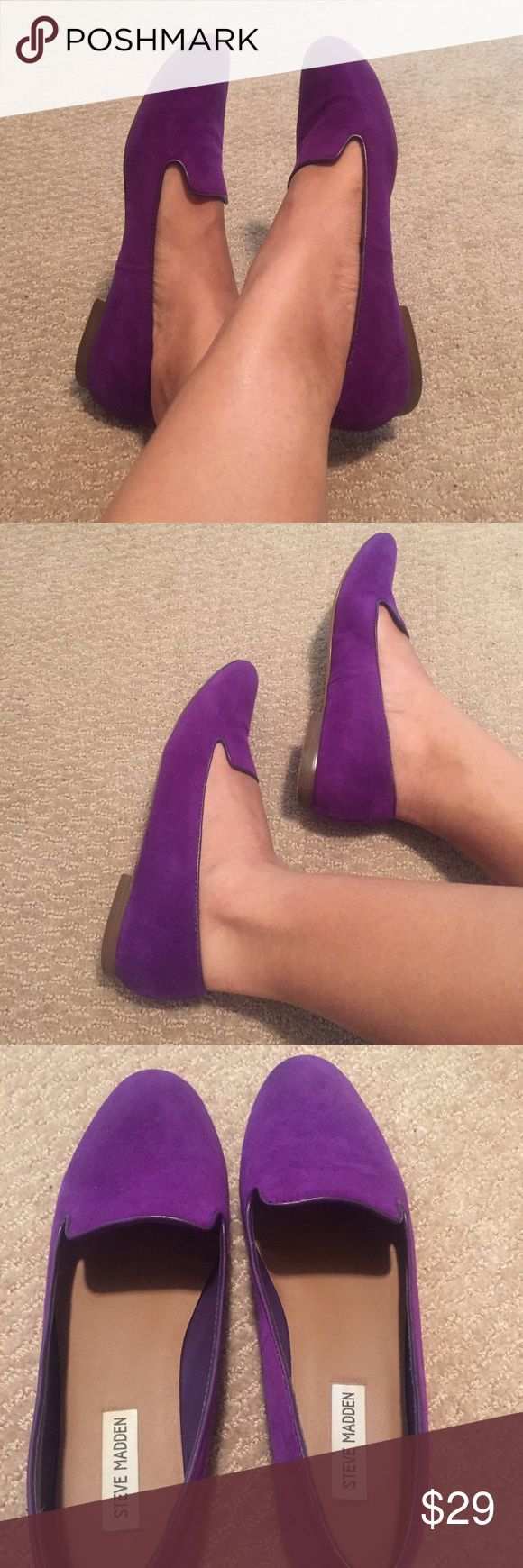 Steve Madden Loafers Classic loafer in purple suede - the perfect pop of color for the office or casual day out and about! / No box included. / Excellent used condition. Steve Madden Shoes Flats & Loafers