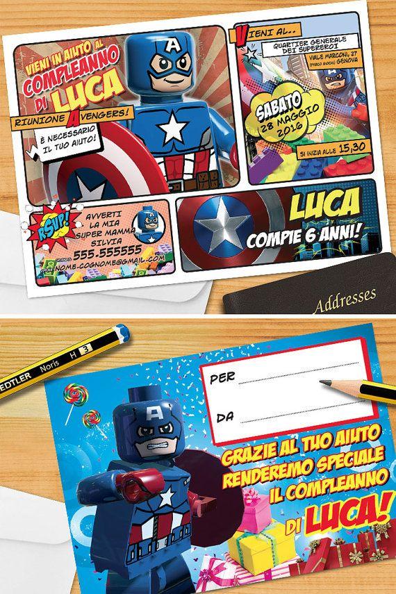 Avengers invito PERSONALIZZATO Capitan di GraficheMeccaniche
