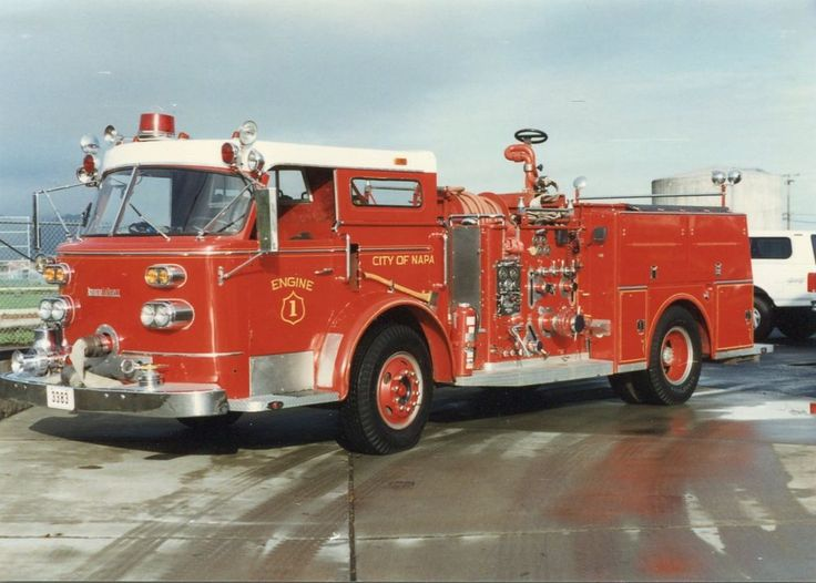 Napa CA Engine 3383 1964 American LaFrance Pumper - 3x5 Fire Apparatus Photo