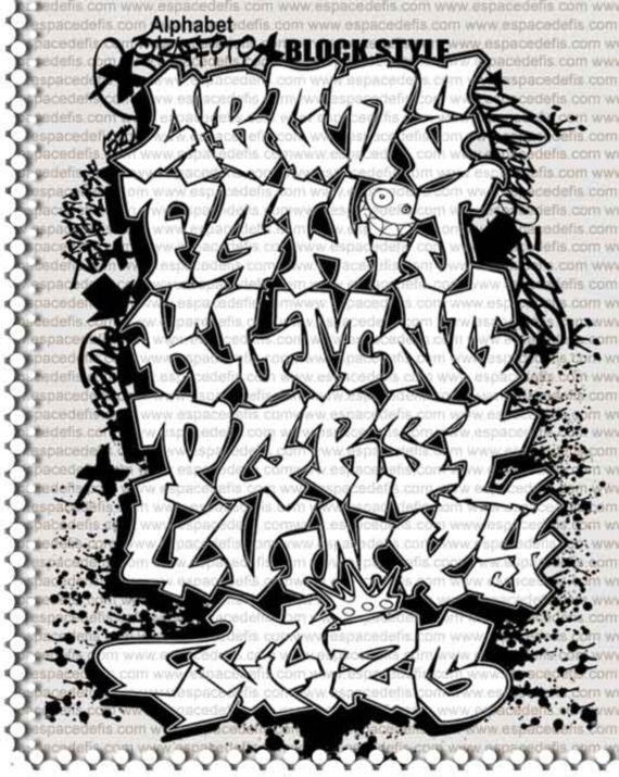 Graffiti alphabet zak pinterest lettres de l - L alphabet en graffiti ...