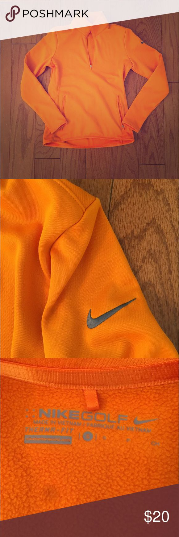 Orange Nike Golf Jacket. Size Small Beautiful orange Nike Golf jacket! Zippered front pockets. Great condition! Size small Nike Jackets & Coats