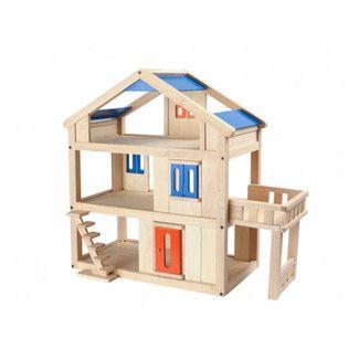 $ 125 <strong>Plan Toys</strong> Terrace Dollhouse