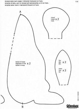 Тильда Кролик: выкройка мягкой игрушки для шитья