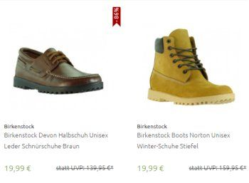 Birkenstock: Schuhe und Stiefel für 19,95 Euro frei Haus https://www.discountfan.de/artikel/klamotten_&_schuhe/birkenstock-schuhe-und-stiefel-fuer-19-95-euro-frei-haus.php Markenschuhe und -Stiefel von Birkenstock sind jetzt via Outlet46 zum Knallerpreis von 19,95 Euro mit Versand zu haben – ursprünglich haben die Treter zwischen 140 und 160 Euro gekostet. Birkenstock: Schuhe und Stiefel für 19,95 Euro frei Haus (Bild: Outlet46) Die Schuhe und Stiefel von B... #Sc