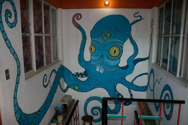 An Octopus in Oaxaca   by Kim Hr. Holm  at Hostal de los Amigos, Oaxaca, Mexico.