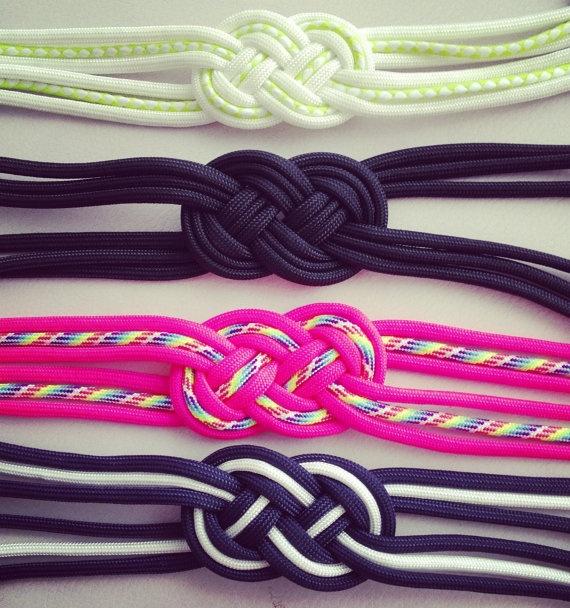 925 silver Parachute Cord Sailor Knot Bracelet  via Etsy