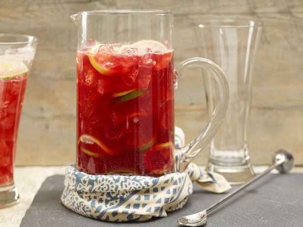 Pomegranate juice and beer are an unexpectedly delicious and refreshing combo in this ruby-hued punch.