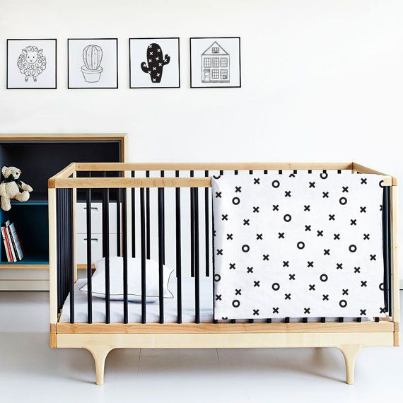 Monochrome Baby bedding  Cotton Duvet Cover  Cot by kiderooSA