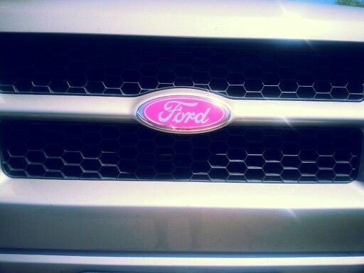 Ford logo pink. Love my truck
